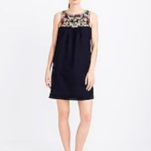 J CREW embroidered top dress